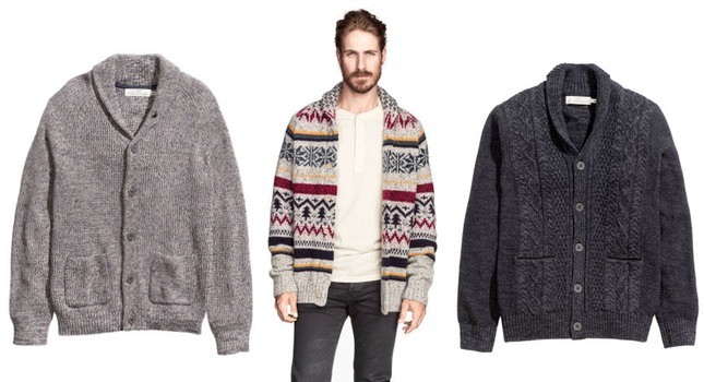 Mens chunky knit cardigans